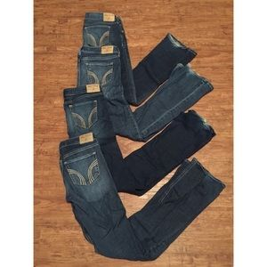 Four pairs of hollister jeans
